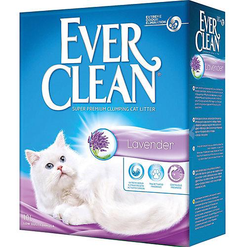 Наполнитель для кошачьих туалетов Ever Clean Lavender комкующийся, 10 л