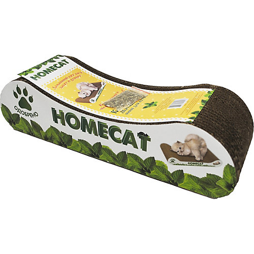 "Когтеточка Homecat Mini ""Мятная волна"" для котят, 4х10 см"