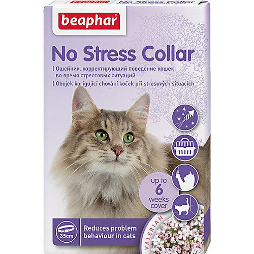 Успокаивающий ошейник для кошек Beaphar No stress collar, 35 см