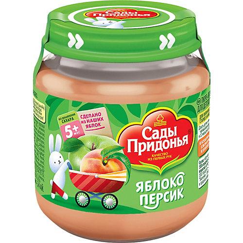 Пюре Сады Придонья яблоко персик с 5 мес, 12 шт по 120 г от Сады Придонья