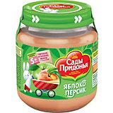 Пюре Сады Придонья яблоко персик с 5 мес, 12 шт по 120 г
