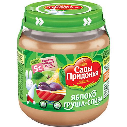 Пюре Сады Придонья яблоко груша слива с 5 мес, 12 шт по 120 г от Сады Придонья