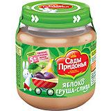 Пюре Сады Придонья яблоко груша слива с 5 мес, 12 шт по 120 г