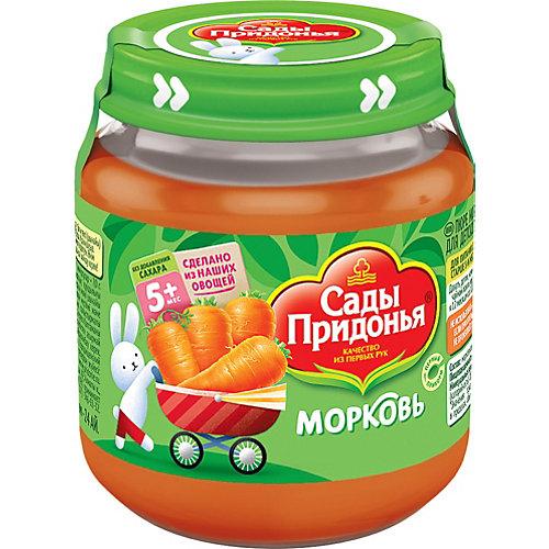 Пюре Сады Придонья морковь с 5 мес, 12 шт по 120 г от Сады Придонья