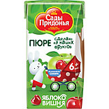 Пюре Сады Придонья яблоко вишня с 6 мес, 18 шт по 125 г