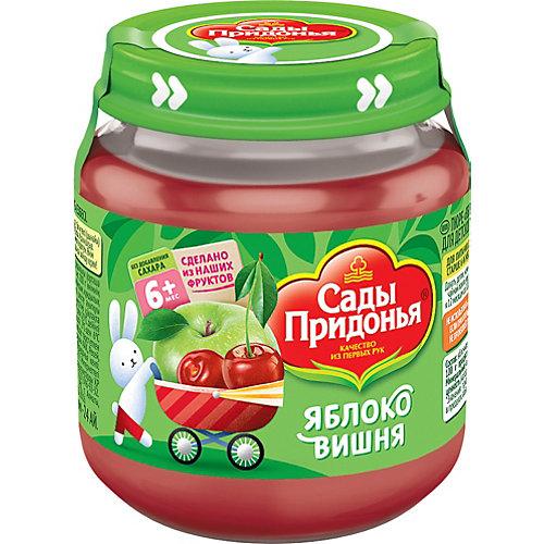 Пюре Сады Придонья яблоко вишня с 6 мес, 12 шт по 120 г от Сады Придонья