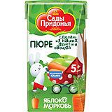 Пюре Сады Придонья яблоко морковь с 5 мес, 18 шт по 125 г
