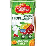 Пюре Сады Придонья яблоко тыква с 5 мес, 18 шт по 125 г