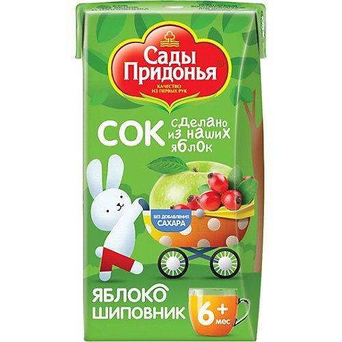 Сок Сады Придонья яблоко шиповник с 6 мес, 18 шт по 125 г от Сады Придонья