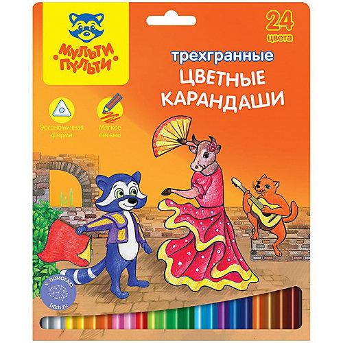 Карандаши Мульти-Пульти Енот в Испании, 24 цвета от Мульти-Пульти