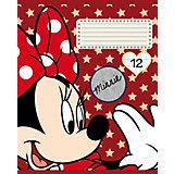 Тетрадь Полиграф Принт Minnie Mouse, 12 листов