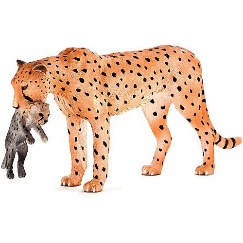 Фигурка Animal Planet Гепард с детенышем в пасти, 6 см от Mojo