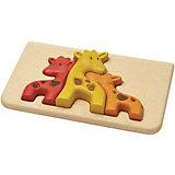Рамка-вкладыш Plan Toys Жирафики