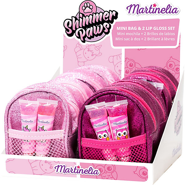 Martinelia Shimmer Paws Mini Bag & Lipgloss Set