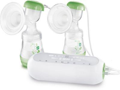 2in1 Doppelmilchpumpe grün/weiß