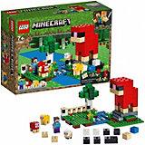 """Конструктор LEGO Minecraft """"Шерстяная ферма"""" 21153, 260 элементов"""