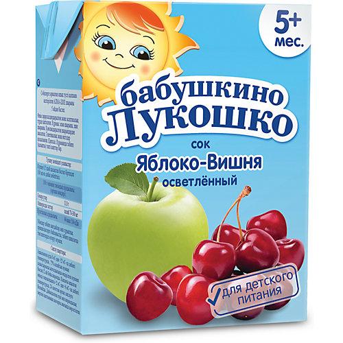 Сок Бабушкино Лукошко яблоко вишня осветлённый, с 5 мес, 200 мл х 18 шт от Бабушкино Лукошко