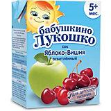 Сок Бабушкино Лукошко яблоко вишня осветлённый, с 5 мес, 200 мл х 18 шт