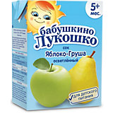 Сок Бабушкино Лукошко яблоко груша осветлённый, с 5 мес, 200 мл х 18 шт