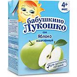 Сок Бабушкино Лукошко яблоко осветлённый, с 4 мес, 200 мл х 18 шт