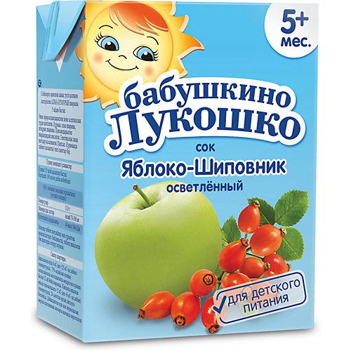 Сок Бабушкино Лукошко яблоко шиповник осветлённый, с 5 мес, 200 мл х 18 шт от Бабушкино Лукошко