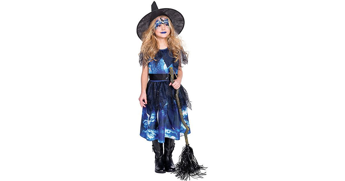 Kostüm Hexe Lotta Gr. 128 blau-kombi