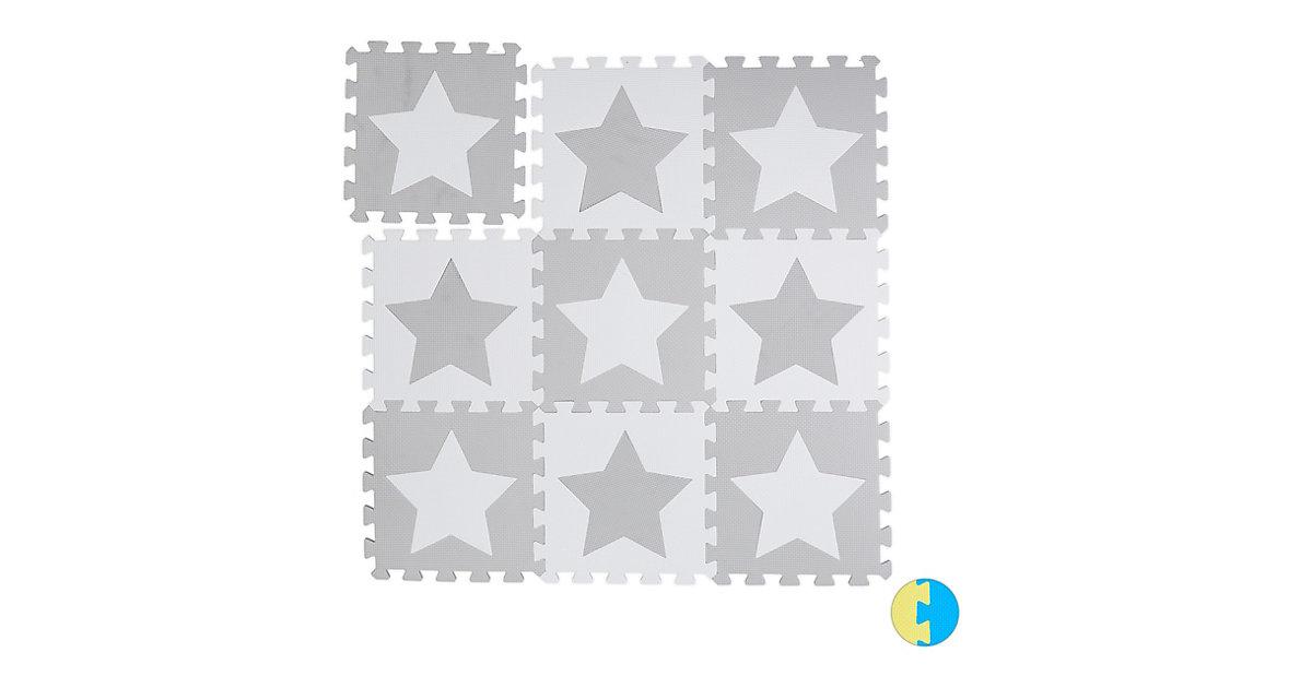 Puzzlematte Sterne weiß-kombi