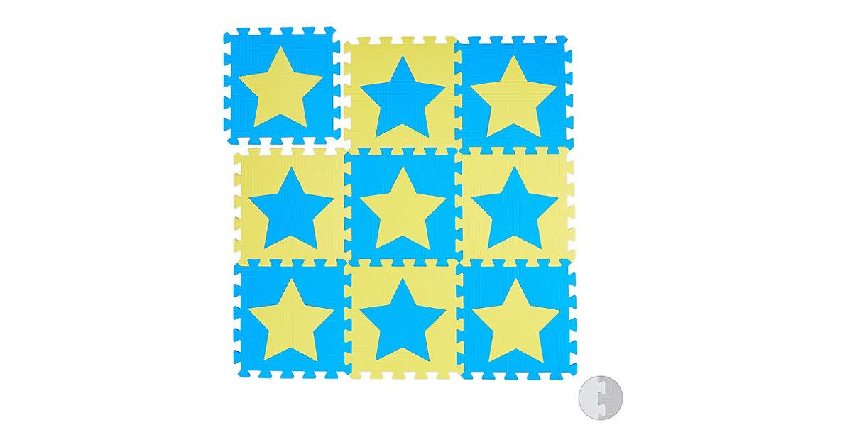 Puzzlematte Sterne gelb-kombi