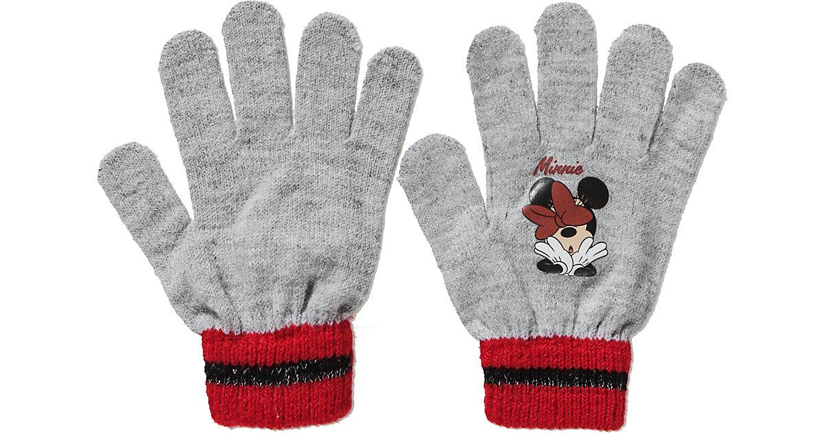 Disney Minnie Mouse Fingerhandschuhe  hellgrau Gr. one size Mädchen Kinder