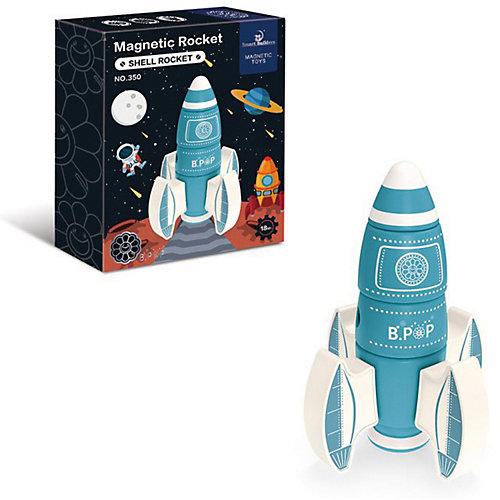 Конструктор магнитный Junfa Toys Ракета, 8 деталей от Junfa Toys