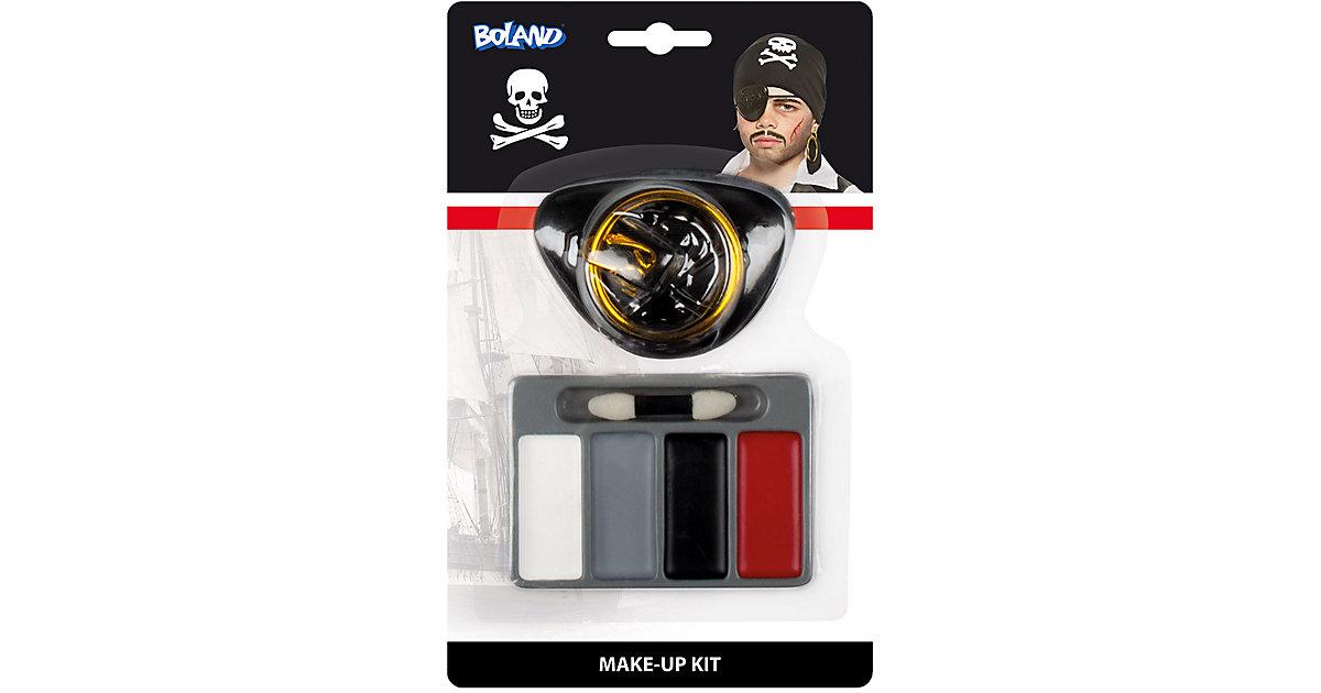 Schminkset Kleiner Pirat (Augenklappe, Ohrring, Schminkfarben und 1 Applikator)