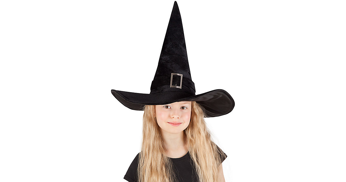 Kinderhut Hexe Kendra schwarz Mädchen Kinder