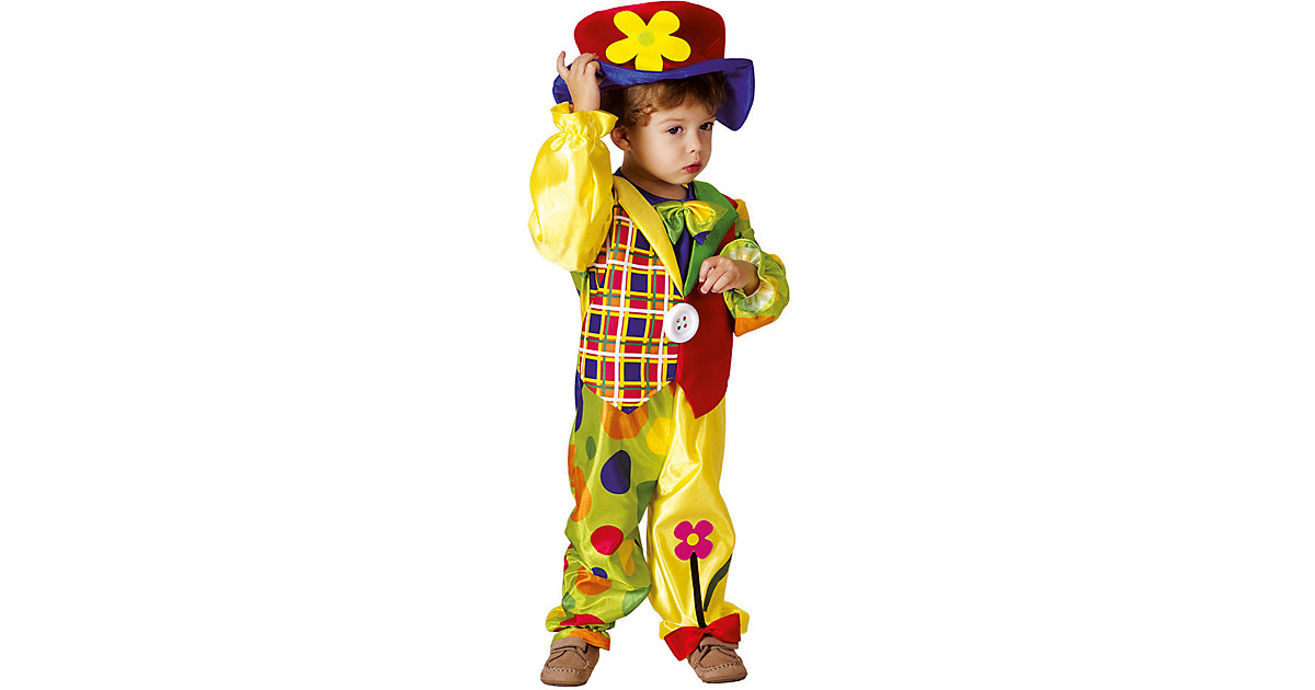 Kinderkostüm Cookie clown (3-4 Jahre) bunt Gr. 104