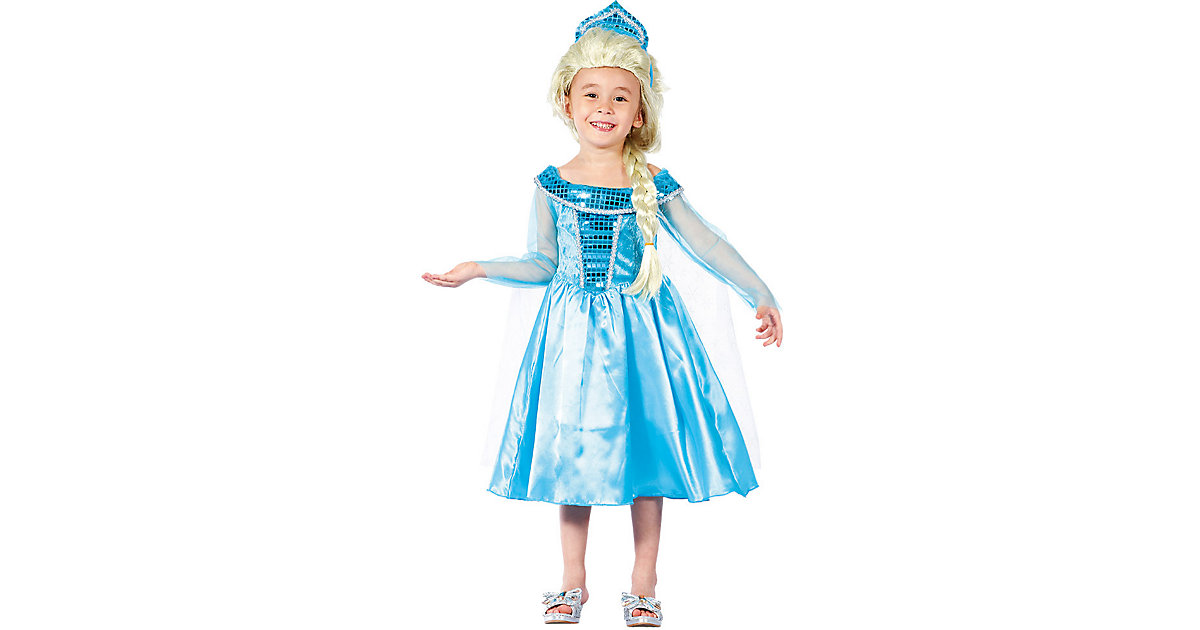 Kinderkostüm Winterprinzessin (3-4 Jahre) blau Gr. 104 Mädchen Kleinkinder