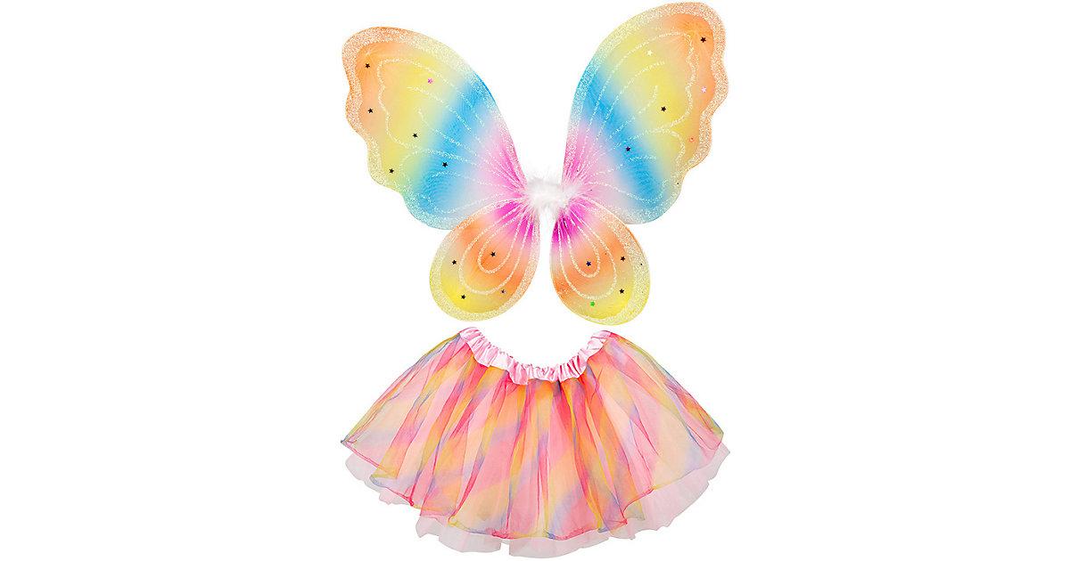 Regenbogenfee-Set (Flügel und Tutu) Mädchen Kinder
