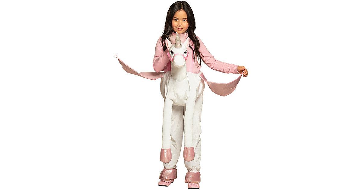 Kinderkostüm Auf einem Einhorn (Einheitsgröße) weiß Gr. one size Mädchen Kinder