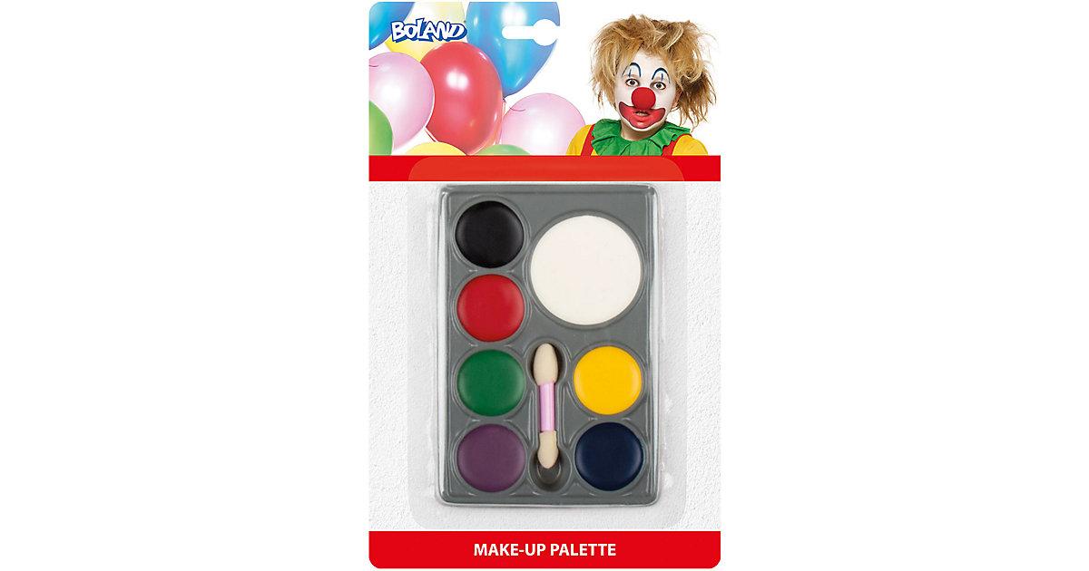 Schminkset Palette Clown Fettschminkfarbe (7 Dosen und Applikator)