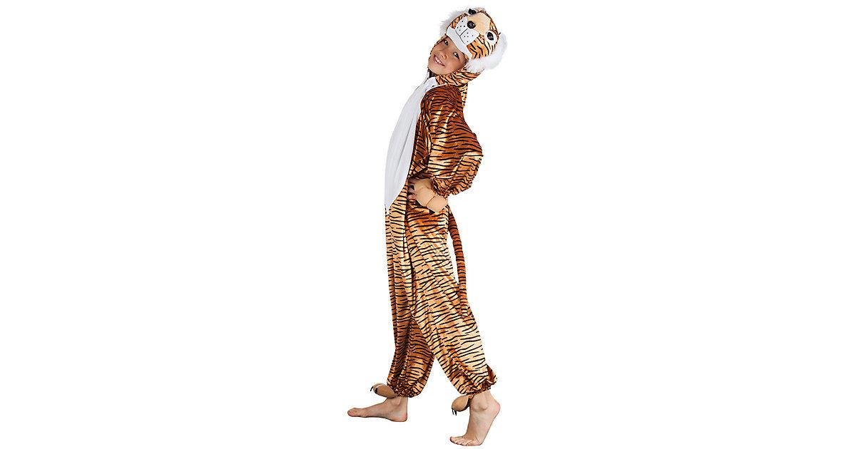 Kinderkostüm Tiger Plüsch (max, 1,16 m) braun Gr. one size Jungen Kleinkinder