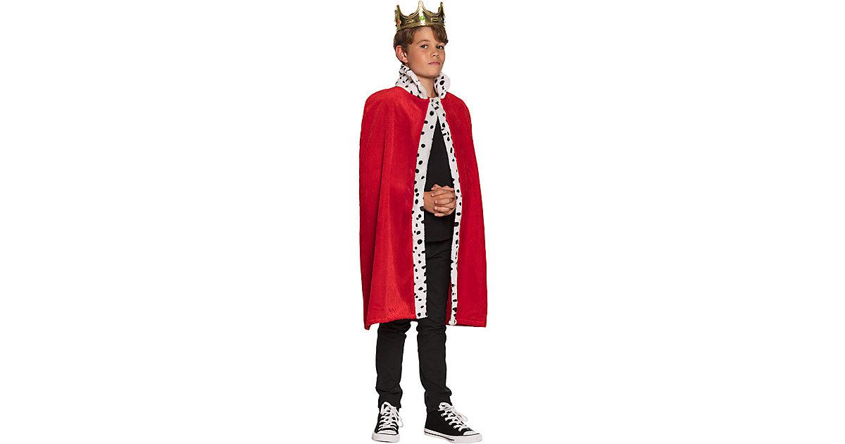 Königsmantel Kind (80 cm) rot Jungen Kinder