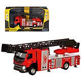 Машинка Автопанорама Цельнометаллическая Volvo Пожарная машина, 23 х 5 х 6,5 см