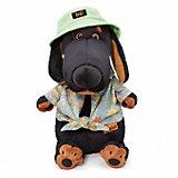 Мягкая игрушка Budi Basa Собачка Ваксон в панамке, 25 см