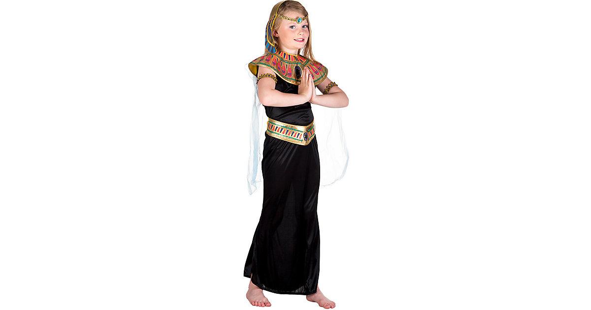 Kinderkostüm Ägyptische Prinzessin (10-12 Jahre) schwarz Gr. 140/146 Mädchen Kinder