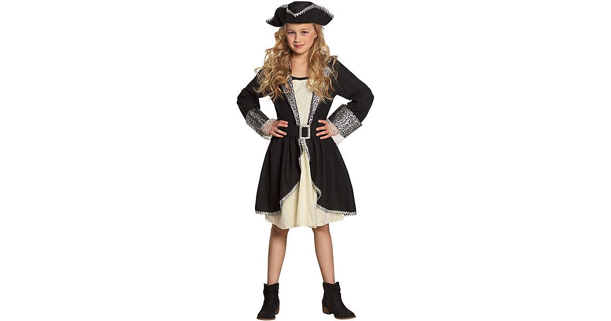 Kinderkostüm Piratin Tracy (4-6 Jahre) schwarz/beige Gr. 110/116 Mädchen Kinder