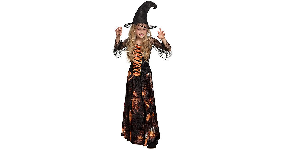 Kinderkostüm Dazzling witch (7-9 Jahre) schwarz Gr. 122/134 Mädchen Kinder