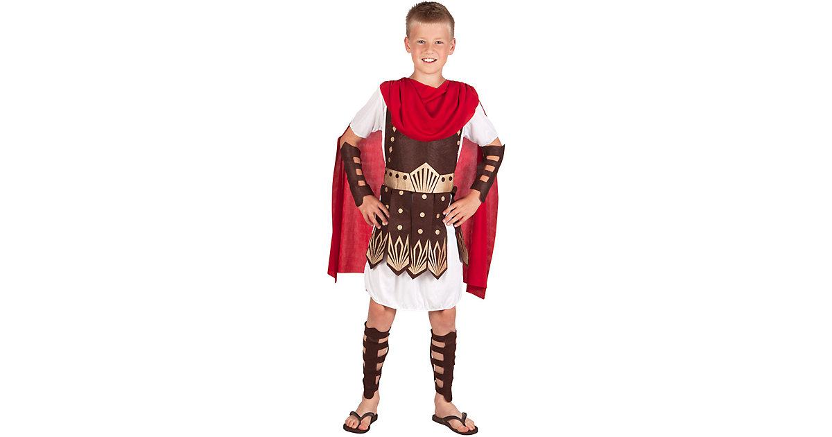 Kinderkostüm Gladiator (4-6 Jahre) rot/weiß Gr. 110/116 Jungen Kinder