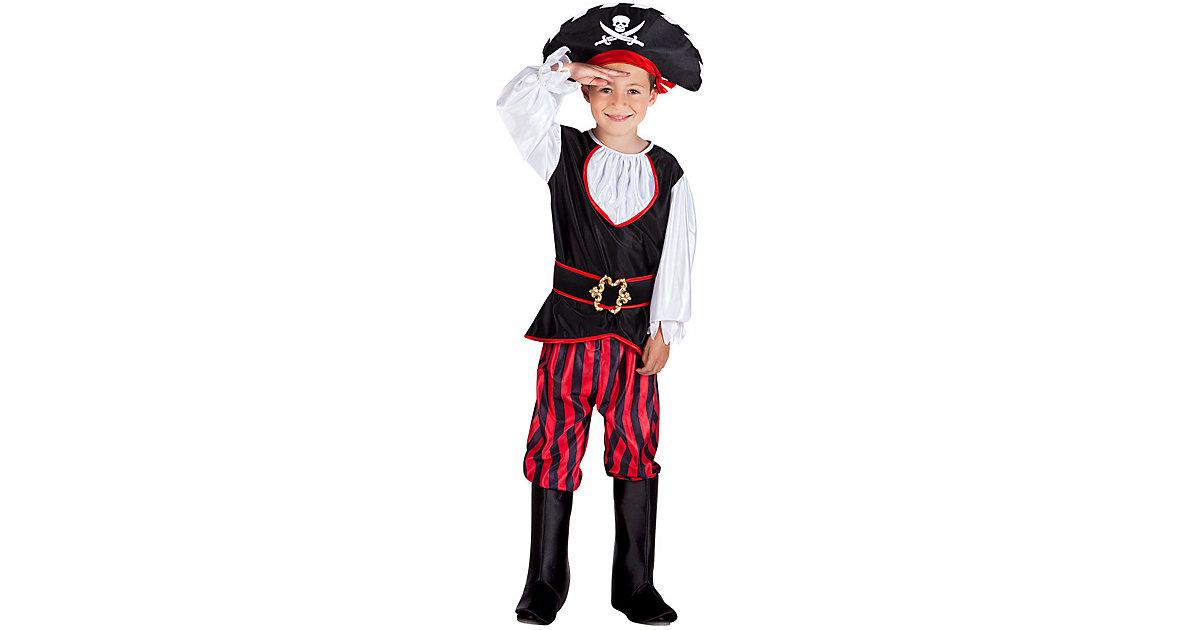 Kinderkostüm Pirat Tom (4-6 Jahre) schwarz Gr. 110/116 Jungen Kinder