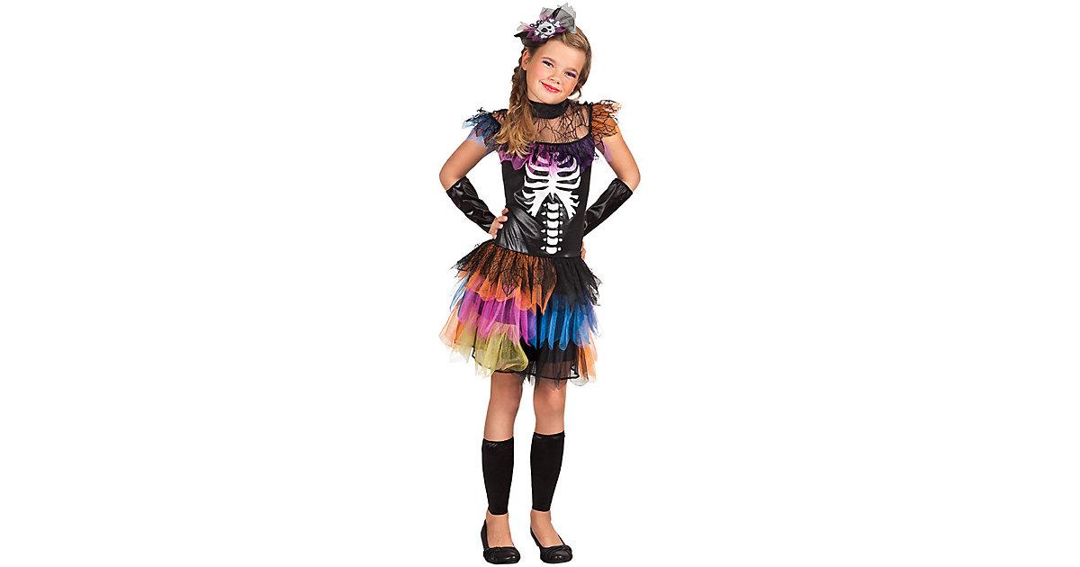 Kinderkostüm Skeleton princess (10-12 Jahre) schwarz/pink Gr. 140/146 Mädchen Kinder