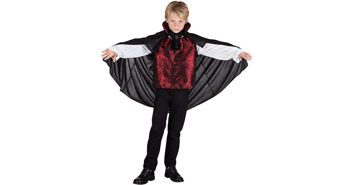 Kinderkostüm Vampire king (10-12 Jahre) schwarz Modell 3 Gr. 140/146 Jungen Kinder