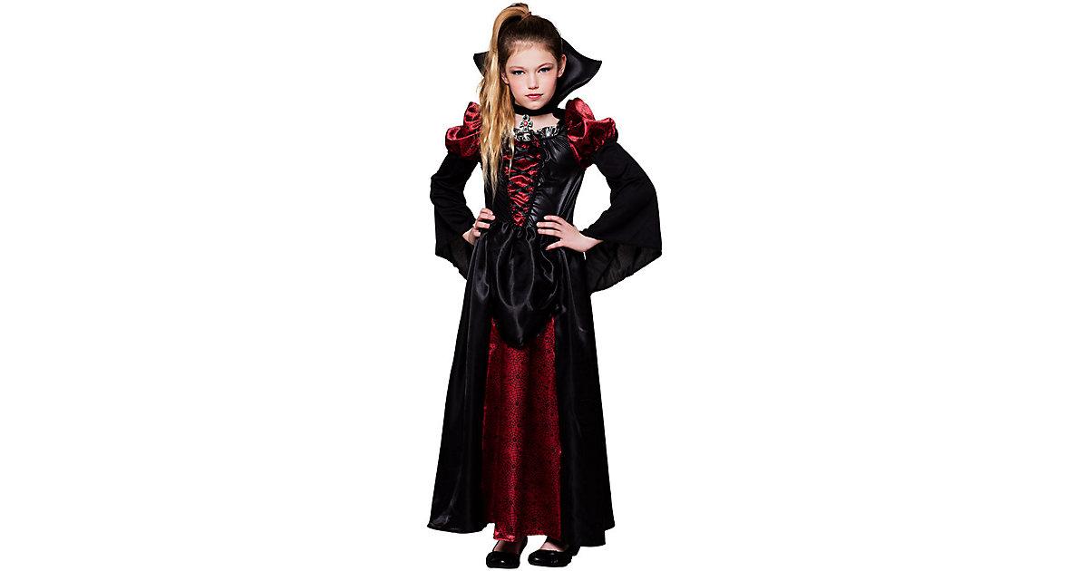 Kinderkostüm Vampire queen (10-12 Jahre) schwarz Gr. 140/146 Mädchen Kinder
