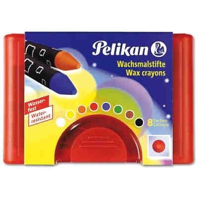 wachsmalstifte rund wasserfest box mit 8 farben. Black Bedroom Furniture Sets. Home Design Ideas